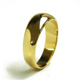 【ご注文後10%OFF(12月2日AM9:59まで)】月形甲丸 リング - K18 イエローゴールド ゴールド 結婚指輪 エンゲージ シンプル 指輪 メンズ レディース