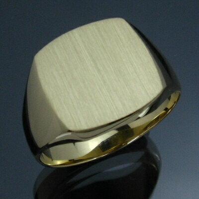 メンズリング 三味印台(小) - K18 18金 イエローゴールド 指輪 メンズ mens 男性 リング ring mensring