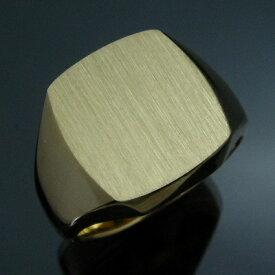 メンズリング 三味印台(大) - K18 18金 イエローゴールド 指輪 メンズ mens 男性 リング ring mensring
