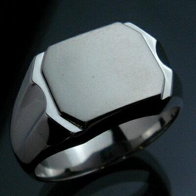 メンズリング 印台(J-6) - Pt プラチナ Pt900 指輪 メンズ mens 男性 リング ring mensring