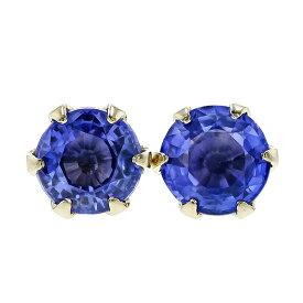 サファイア ピアス 0.28〜0.7ct(Total) ラウンドカット 18金 一粒 0.3ct 0.3カラット 0.5ct 0.5カラット 0.6ct 0.6カラット スタッド ゴールド 18k K18 ブルーサファイア サファイヤ ロイヤルブルー sapphire pierce 色石