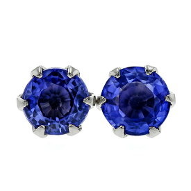 サファイア ピアス 0.2〜2.0ct(Total) ラウンドカット プラチナ 一粒 0.2ct 0.3ct 0.4ct 0.5ct 0.6ct 0.7ct 1.0ct 2.0ct スタッド プラチナ pt サファイヤ ピアス ピヤス ロイヤルブルー ブルーサファイア sapphire pierce 色石ピアス