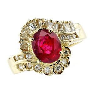 【ご注文後5%OFF】ルビー リング 2.032ct オーバルミックスカット 18金 K18 ゴールド 指輪 3ct 3カラット ルビーリング ruby 紅玉 ダイヤモンド ダイヤ リング ring diamond 色石