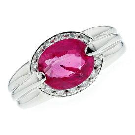非加熱ルビー リング 2.783ct --オーバルミックスカット プラチナ Pt Platinum 指輪 天然 非加熱 ルビーリング ルビー ダイヤモンド ダイヤ ダイヤモンドリング リング ring diamond 色石
