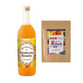 コンブチャ レモンティ 風味 スムージー アサイースムージー コンブチャクレンズ&アサイースムージー コンブチャクレンズ 酵素 紅茶キノコ 紅茶発酵