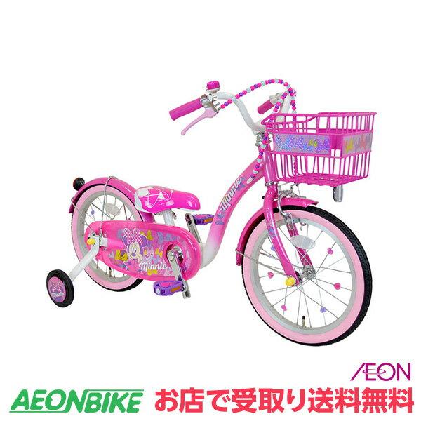 【お店受取り送料無料】 アイデス (ides) 16インチ ミニーマウス Poppin' Ribbon 16 16型 変速なし 子供用自転車