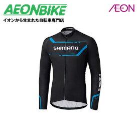 0629326c6cda38 シマノ (SHIMANO) サーマル プリント ロングスリーブ ジャージ ブラック Sサイズ ECWJSPWPS32ML2【自転車ウエア