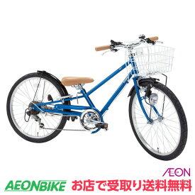 【お店受取り送料無料】 ピープル (People) いち・ろく自転車 シーブルーメタリック 外装6段変速 22型 YGA323 子供用自転車