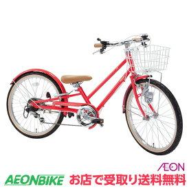 【お店受取り送料無料】 ピープル (People) いち・ろく自転車 コーラル 外装6段変速 22型 YGA324 子供用自転車