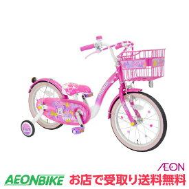 【お店受取り送料無料】 アイデス (ides) 16インチ ミニーマウス Poppin' Ribbon 16 ポッピンリボン 16型 変速なし 子供用自転車