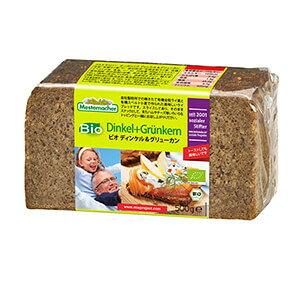 メステマッハー オーガニック ディンケル&グリューンケルン(ライ麦&スペルト小麦) 500g 有機全粒粉