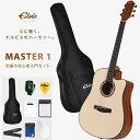 【新登場】ELVISエルビス Master 1 アコースティックギター【スプルース材トップ×マホガニー材】【初心者入門8点セット:国内保証書・…