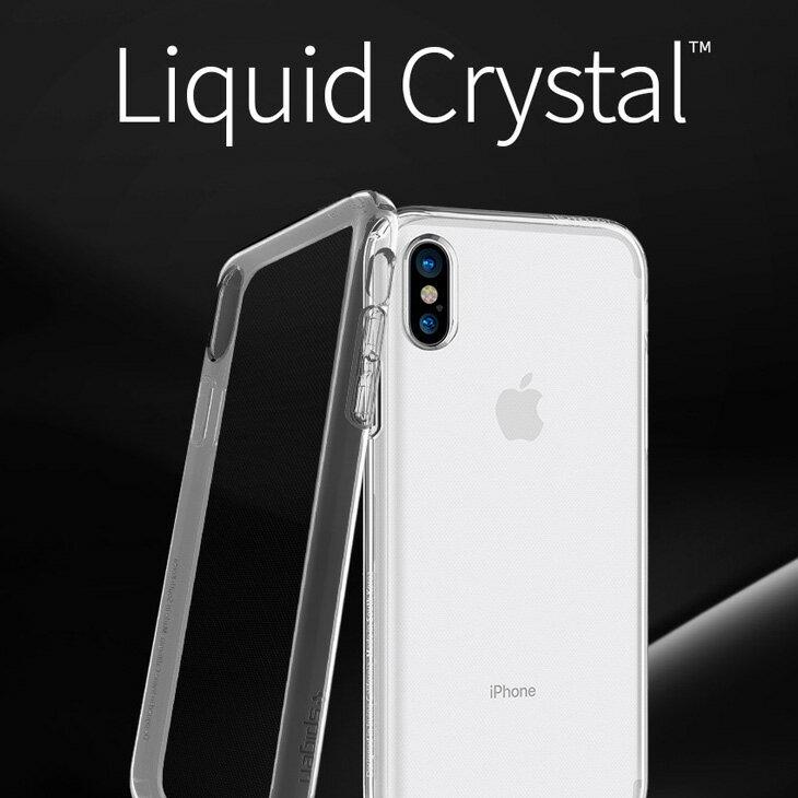 LIQUID CRYSTAL iPhoneXケース spigen シュピゲン リキッド クリスタル iphoneケース スマホカバー シンプル 【iPhone iPhoneX iPhone8 iPhone7 iPhone6 透明ケース マット アイフォン6s アイフォン7 アイフォン8 アイフォンX ケース】