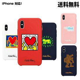 SKINU KEITH HARING Color Jelly Case【DM便送料無料】カラーゼリーケース キースへリング  iPhoneX iPhoneXR iPhoneXsMAX iPhone8 iPhone8Plus iPhone7 iPhone7Plus iPhone6s iPhone6sPlus iPhone6 iPhone6Plus iPhone5/5s/SE 鏡 スマホカバー★★