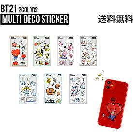 【Multi】BT21 Multi Deco Sticker【送料無料】正規品 公式グッズ スマホ用 タブレット用 デザイン オリジナル デコステッカー モバイルステッカー シール デコレーション おしゃれ 誕生日 イベント BTS 防弾少年団 ステッカー K-POP かわいい 韓国 パソコン 飾り