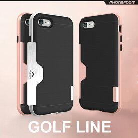PHONEFOAM GOLF LINE iPhone8ケース カードケース カード収納 収納ケース 使いやすさ【iPhone iPhone8 iPhone7 iPhone6 アイフォン6 アイフォン6s アイフォン7 アイフォン8 ケース】