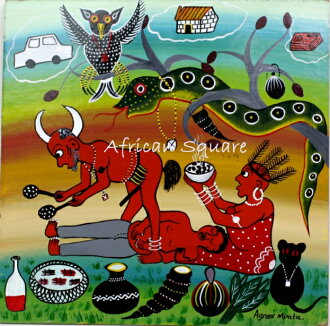 tingatinga Agnes Mpata(阿格尼丝)TT10026