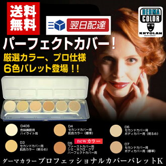 * At the end of June in stock plans-trust vendors develop! ダーマカラープロフェッショナル cover concealer palette K (six pack)
