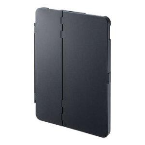 iPad Air 2020 ハードケース(スタンドタイプ・ブラック) PDA-IPAD1704BK ポリカーボネート製 シンプル キーボードスタンド