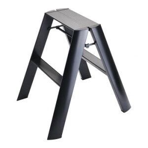 デザイン踏み台 METAPHYS lucano ルカーノ ツーステップ ML2.0-2(BK) ステッパー ベンチ 小椅子 便利 かわいい おしゃれ インテリア キッチン 玄関