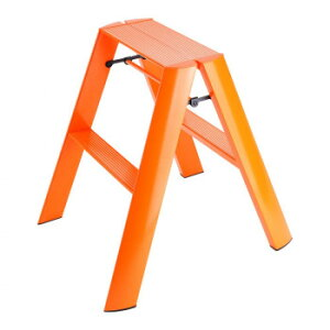 デザイン踏み台 METAPHYS lucano ルカーノ ツーステップ ML2.0-2(OR) ステッパー ベンチ 小椅子 便利 かわいい おしゃれ インテリア キッチン 玄関