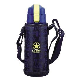 水筒 魔法瓶 ドリンクボトル おしゃれ パール金属 キッズチャージャー ダイレクトボトル600 ネイビー ポーチ付 HB-4920