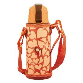 水筒 魔法瓶 ドリンクボトル おしゃれ パール金属 キッズチャージャー ダイレクトボトル600 オレンジ ポーチ付 HB-4921