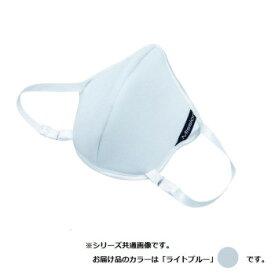 フィットブレス マスク型フェイスパット FIT Breath ライトブルー 国産 日本製 マスク ジム トレーニング フィットネス スポーツ 涼感 涼しい ひんやり 息苦しくない