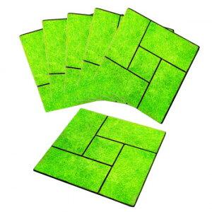 雑草が生えにくい芝生調マット6枚組 雑草防止 プチリフォーム 簡単
