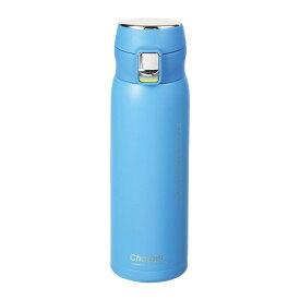 水筒 魔法瓶 マグボトル 保温 保冷 おしゃれ 青 水色 パール金属 チャージャー 軽量ワンタッチスポーツマグ500 アクアブルー HB-4766