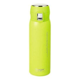 水筒 魔法瓶 マグボトル 保温 保冷 おしゃれ かわいい 黄色 パール金属 チャージャー 軽量ワンタッチスポーツマグ500 シトロンイエロー HB-4767