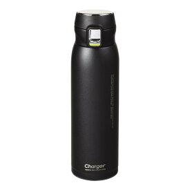 ステンレスマグ 水筒 魔法瓶 マグボトル 保温 保冷 おしゃれ 黒 パール金属 チャージャー 軽量ワンタッチスポーツマグ650 パウダーブラック HB-4773