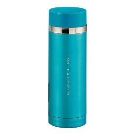 ステンレスマグ 水筒 魔法瓶 マグボトル 保温 保冷 おしゃれ シンプル パール金属 プレミアムマイカフェスリム ダイレクトマグ300 ジタンブルー H-6933