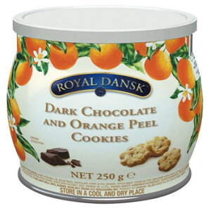 海外食品 おいしい お取り寄せ 希少 レア 人気 業務用 ロイヤルダンスク ダークチョコ&オレンジピールクッキー 250g 12セット 011062