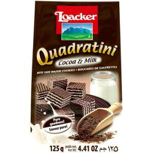 海外食品 おいしい お取り寄せ 希少 レア 人気 業務用 ロアカー クワドラティーニ ウエハース ココア&ミルク 125g 12セット