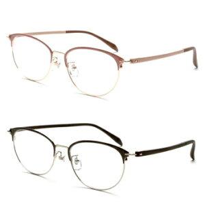 多焦点レンズ 老眼鏡 ブルーライトカット UVカット 眼鏡 ピントグラス(視力補正用メガネ PG-709/T)