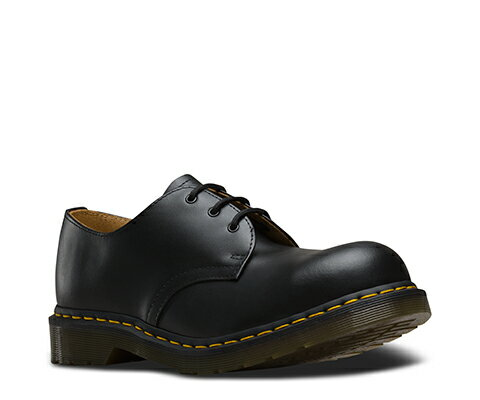 ドクターマーチン ローカット ブーツ ブラック 黒 3ホール Dr.Martens 1925Z DMS 3HOLE STEEL BLACK FINE HAIRCELL