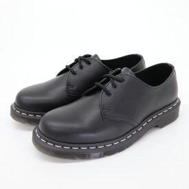 ドクターマーチン 即納 国内正規品 送料無料 レディース メンズ 3ホールシューズ ブーツ ブラック 黒 ホワイトステッチ Dr.Martens 1461 WHITE STITCH