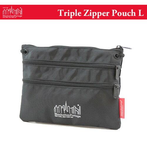 マンハッタンポーテージ トリプル ジッパー ポーチ L サコッシュ (メール便送料無料) Manhattan Portage Triple Zipper Pouch L