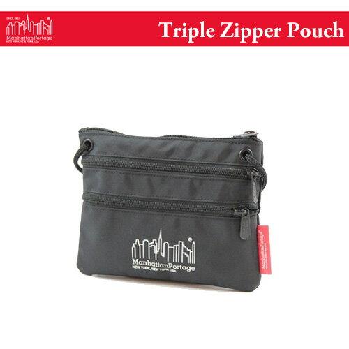 マンハッタンポーテージ トリプル ジッパー ポーチ サコッシュ (メール便送料無料) Manhattan Portage Triple Zipper Pouch