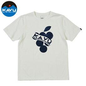 カブー メンズ Tシャツ 半袖 グレープ ホワイト 即納 (メール便送料無料) KAVU Grape Tee