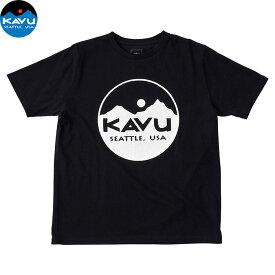 カブー メンズ Tシャツ 半袖 サークルロゴ ブラック 即納 (メール便送料無料) KAVU Circle Logo Tee