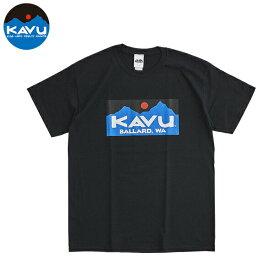 カブー メンズ Tシャツ バラード ロゴ ブラック 即納 (メール便送料無料) KAVU BALLARD Tee