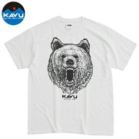 カブー メンズ Tシャツ 半袖 グリズリー 熊 ホワイト 即納 (メール便送料無料) KAVU Grizzly Tee