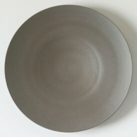 【即日発送】SyuRo(シュロ)せっ器plate L(グレー)[食器 ホワイト 陶磁器 うつわ 皿 プレート 焼き物]
