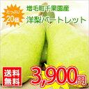 【送料無料】北海道増毛町産洋梨★パートレット【20個入/5kg前後】 ※お届け日の指定不可!お届けは9月下旬頃を予定しています。