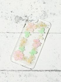 [Rakuten Fashion]【SALE/37%OFF】押し花iPhone8/7/6/6sケース Afternoon Tea アフタヌーンティー・リビング ファッショングッズ 携帯ケース/アクセサリー グレー ベージュ【RBA_E】
