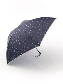 [Rakuten Fashion]チェリー柄軽量折りたたみ傘雨傘 Afternoon Tea アフタヌーンティー・リビング ファッショングッズ 日傘/折りたたみ傘 ネイビー ホワイト