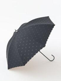 [Rakuten Fashion]スカラップドット晴雨兼用長傘日傘 Afternoon Tea アフタヌーンティー・リビング ファッショングッズ ファッショングッズその他 ブラック ホワイト ネイビー