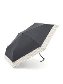 [Rakuten Fashion]ヘムストライプ晴雨兼用折りたたみ傘日傘 Afternoon Tea アフタヌーンティー・リビング ファッショングッズ ファッショングッズその他 ブラック ネイビー ベージュ